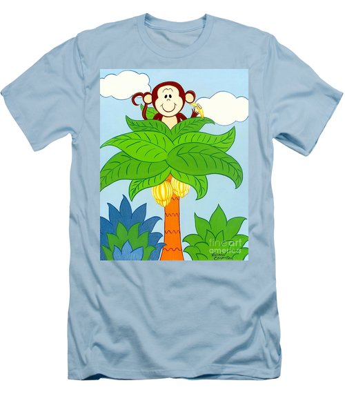 Tree Top Monkey Men's T-Shirt (Athletic Fit)