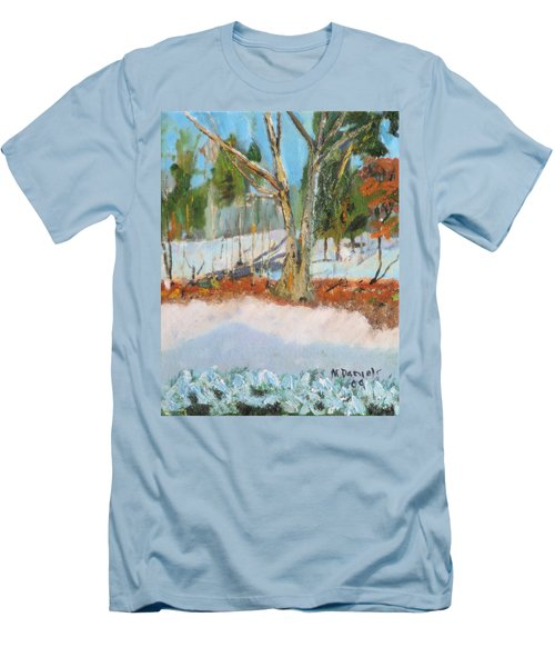 Trees And Snow Plein Air Men's T-Shirt (Athletic Fit)