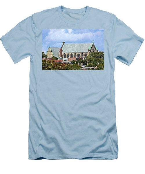 Men's T-Shirt (Slim Fit) featuring the photograph Trinity Church by Kristin Elmquist
