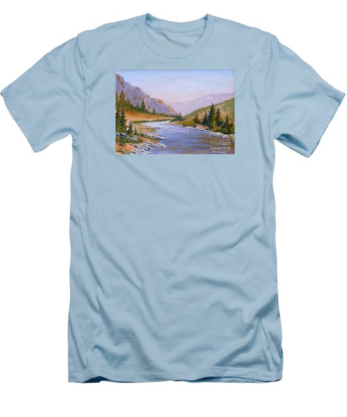 Trout Stream Men's T-Shirt (Athletic Fit)