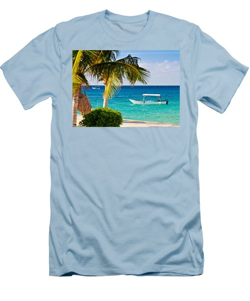 Turquoise Waters In Cozumel Men's T-Shirt (Athletic Fit)