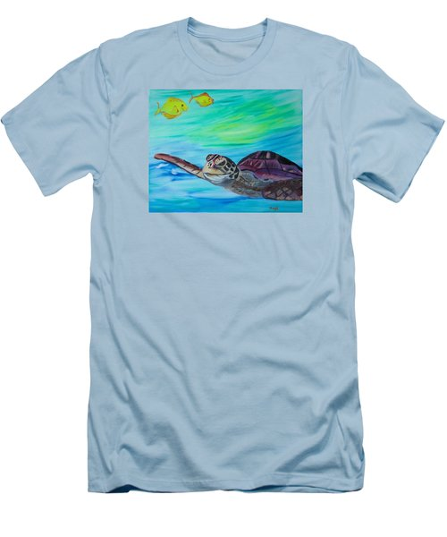 Men's T-Shirt (Slim Fit) featuring the painting Traveling Through by Meryl Goudey