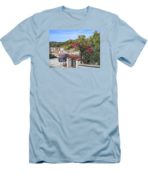Men's T-Shirt (Slim Fit) featuring the photograph Tuscany Hills by Ramona Matei