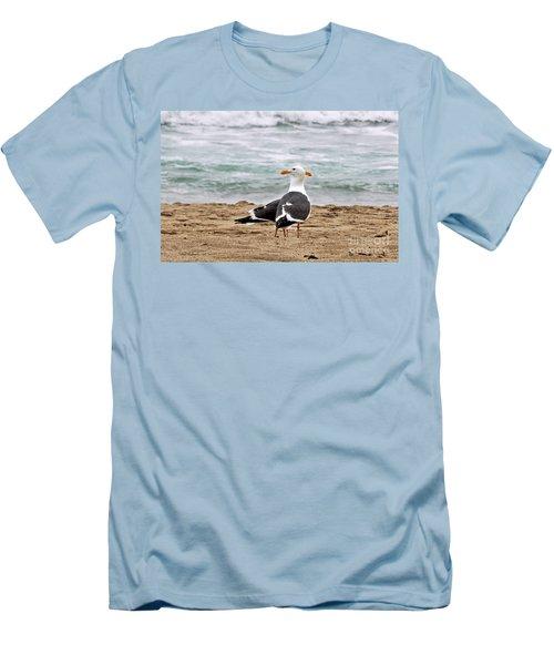 Twin Beaks Men's T-Shirt (Slim Fit) by Susan Wiedmann