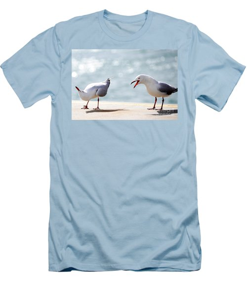Two Seagulls Men's T-Shirt (Slim Fit) by Yew Kwang
