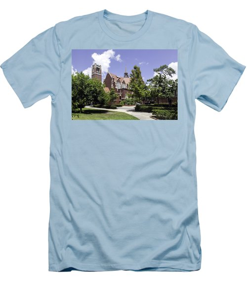 Uf University Auditorium And Century Tower Men's T-Shirt (Slim Fit) by Lynn Palmer