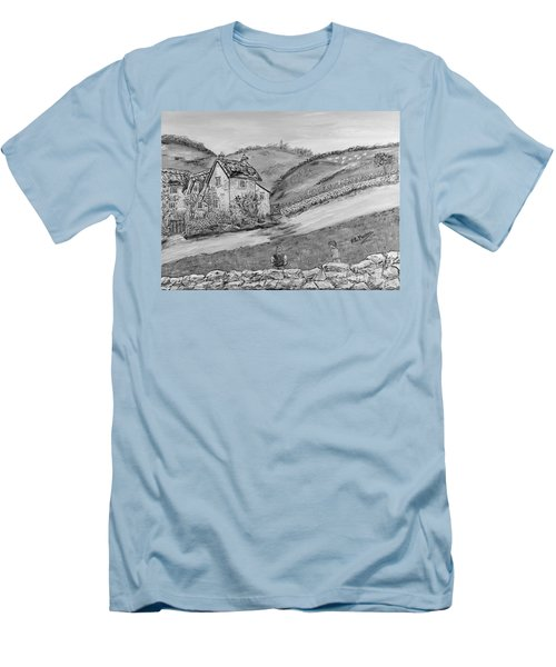 Men's T-Shirt (Slim Fit) featuring the painting Un Pomeriggio D'estate by Loredana Messina