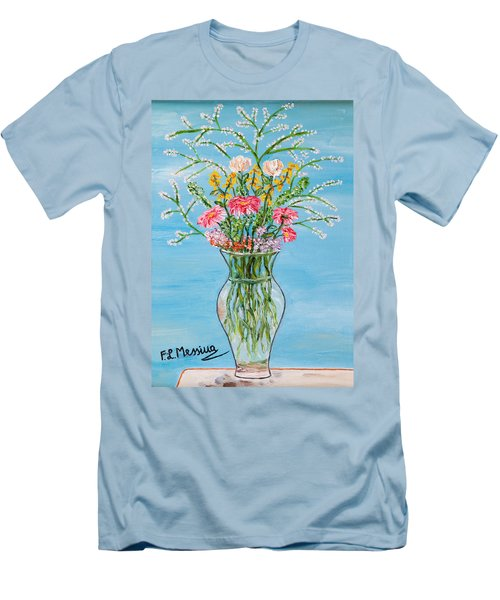 Men's T-Shirt (Slim Fit) featuring the painting Un Segno by Loredana Messina