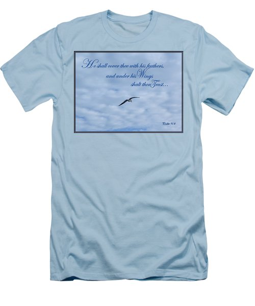 Under His Wings Men's T-Shirt (Slim Fit) by Larry Bishop