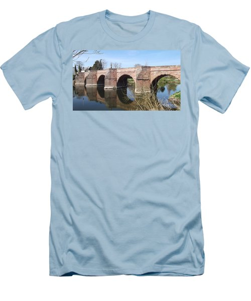 Men's T-Shirt (Slim Fit) featuring the photograph Under The Arches by Tracey Williams