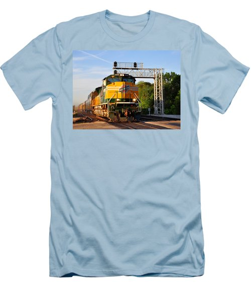 Union Pacific Chicago And North Western Heritage Unit Men's T-Shirt (Athletic Fit)