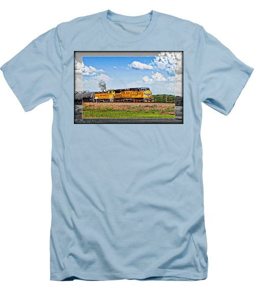 Union Pacific Railroad 2 Men's T-Shirt (Slim Fit) by Walter Herrit
