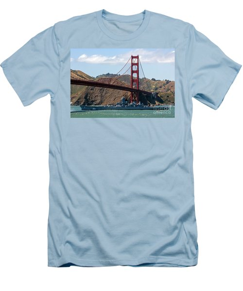 U.s.s. Iowa Up Close Men's T-Shirt (Athletic Fit)