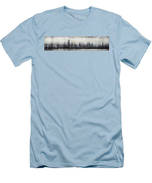 Vancouver Skyline Abstract 1 Men's T-Shirt (Slim Fit) by Peter v Quenter
