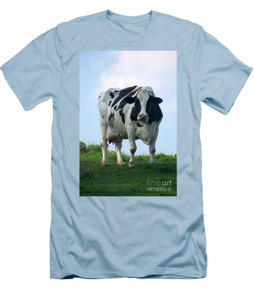 Vermont Dairy Cow Men's T-Shirt (Athletic Fit)