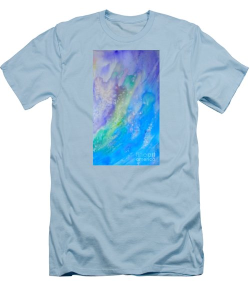 Men's T-Shirt (Slim Fit) featuring the painting Vetical Ocean Waves by Justin Moore