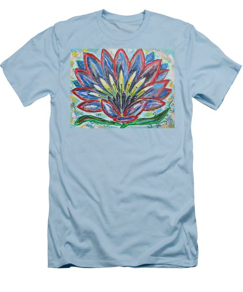 Men's T-Shirt (Slim Fit) featuring the painting Hawaiian Blossom by Diane Pape