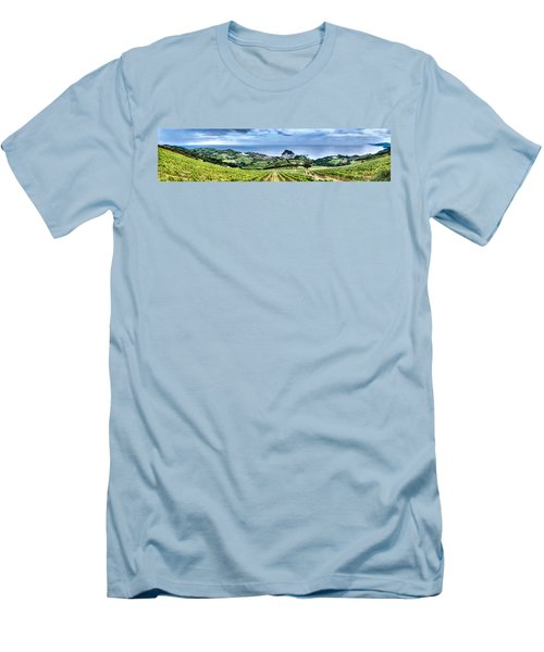 Vineyards By The Sea Men's T-Shirt (Athletic Fit)