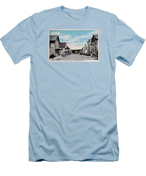 Vintage Postcard Of Wolfeboro New Hampshire Art Prints Men's T-Shirt (Athletic Fit)