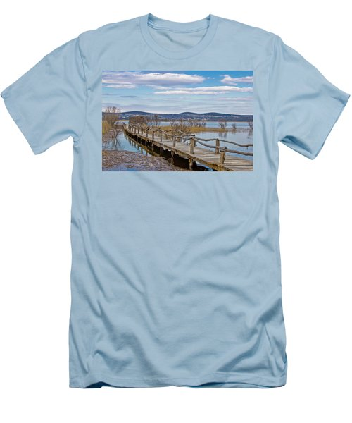 Vransko Lake Nature Park Bird Observatory Men's T-Shirt (Athletic Fit)