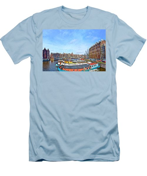 Waalseilandgracht Amsterdam Men's T-Shirt (Slim Fit) by Frans Blok