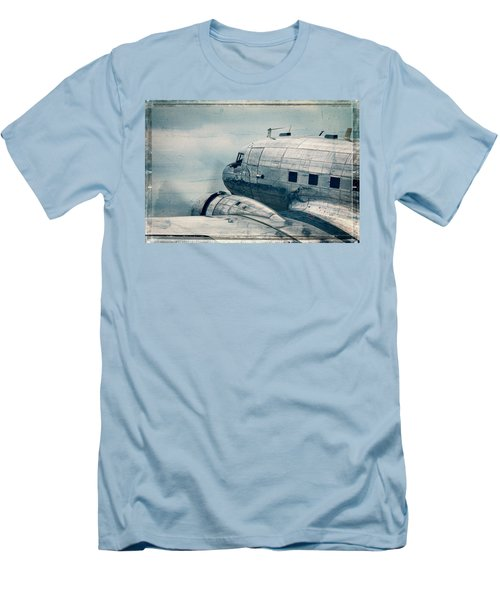 Waiting For Take Off Men's T-Shirt (Slim Fit) by Steven Bateson
