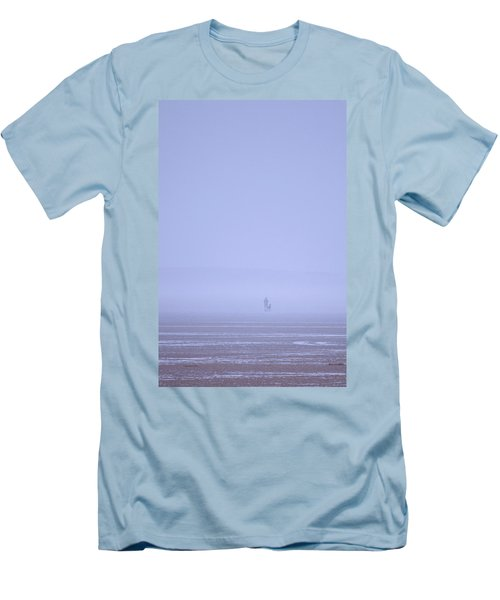 Walking The Dog In The Mist Men's T-Shirt (Slim Fit) by Spikey Mouse Photography