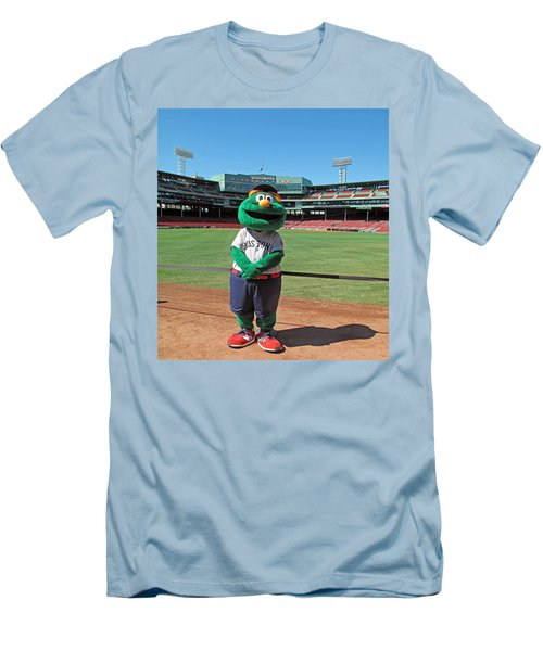 Men's T-Shirt (Slim Fit) featuring the photograph Wally by Barbara McDevitt