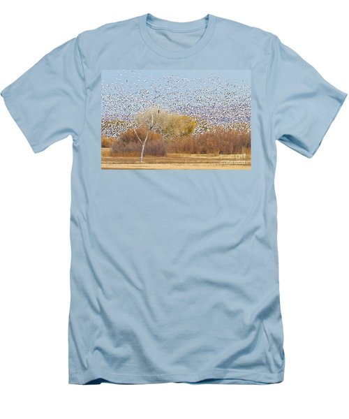Men's T-Shirt (Slim Fit) featuring the photograph Watching Over The Flock by Bryan Keil