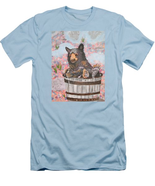 Men's T-Shirt (Slim Fit) featuring the painting Water Bear by Phyllis Kaltenbach