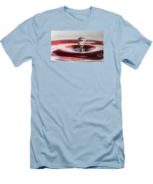 Men's T-Shirt (Slim Fit) featuring the photograph Water Drops Jumping by Jeff Folger