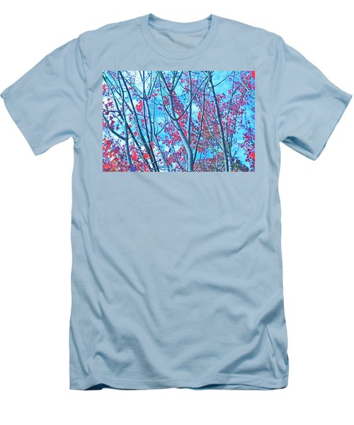 Men's T-Shirt (Athletic Fit) featuring the photograph Watercolor Autumn Trees by Tikvah's Hope