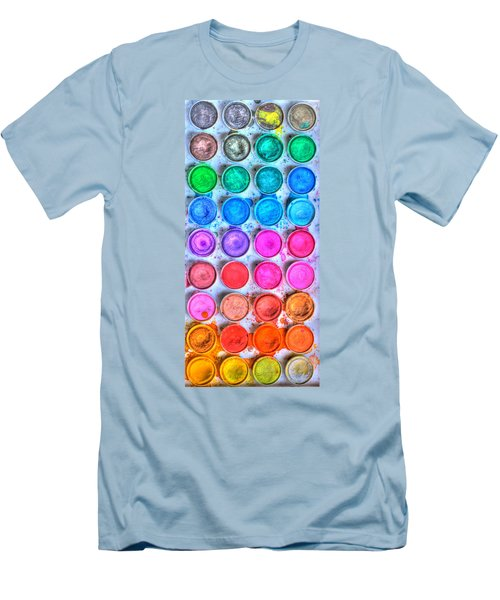 Watercolor Delight Men's T-Shirt (Athletic Fit)