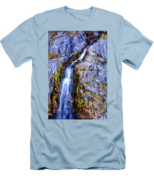 Waterfall-mt Timpanogos Men's T-Shirt (Athletic Fit)