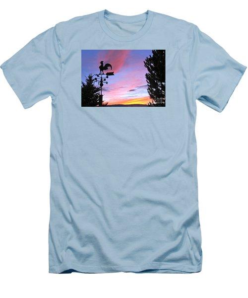 Weather Vane Sunset Men's T-Shirt (Slim Fit) by Phyllis Kaltenbach
