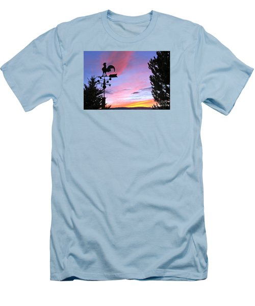 Weather Vane Sunset Men's T-Shirt (Athletic Fit)