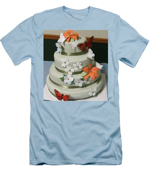 Wedding Cake For April Men's T-Shirt (Slim Fit)