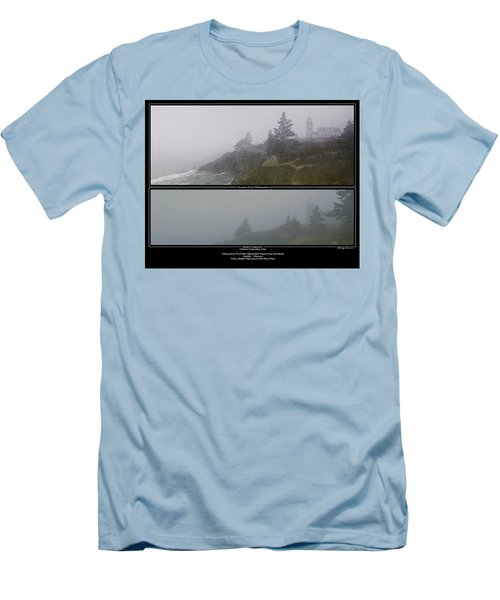 Men's T-Shirt (Slim Fit) featuring the photograph We'll Keep The Light On For You by Marty Saccone