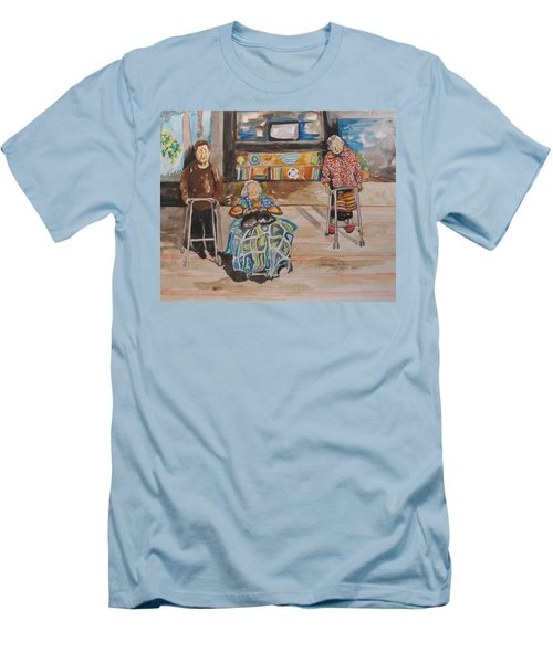 We're Still Here Men's T-Shirt (Slim Fit) by Esther Newman-Cohen