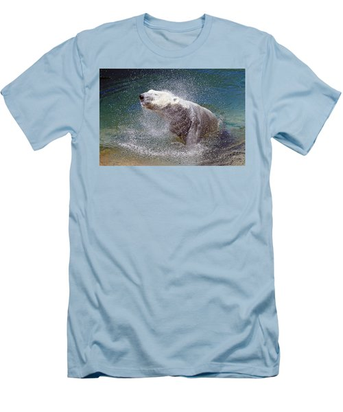 Wet Polar Bear Men's T-Shirt (Athletic Fit)