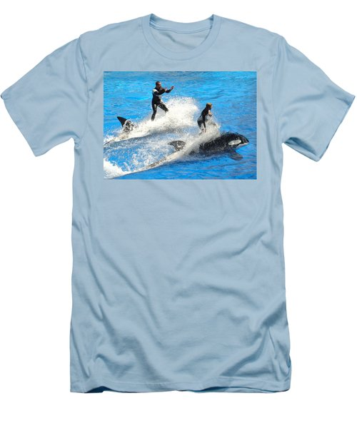 Whale Racing Men's T-Shirt (Athletic Fit)