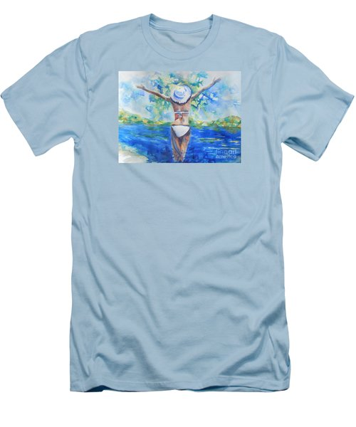 What Lies Ahead Series Forgive Men's T-Shirt (Slim Fit) by Chrisann Ellis
