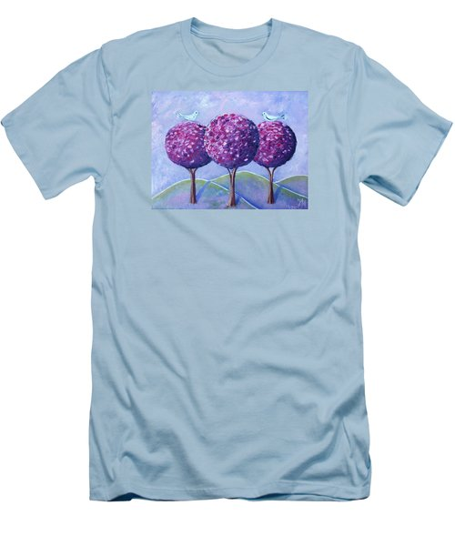 When The Cherry Trees Are Blooming Men's T-Shirt (Slim Fit) by Nina Mitkova