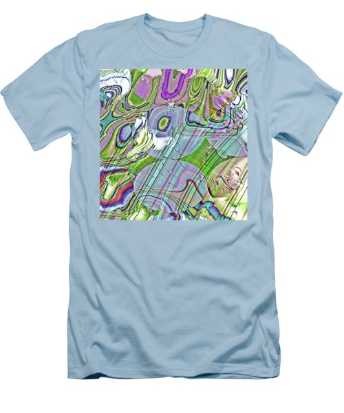 Men's T-Shirt (Slim Fit) featuring the digital art When Worlds Collide by Richard Thomas