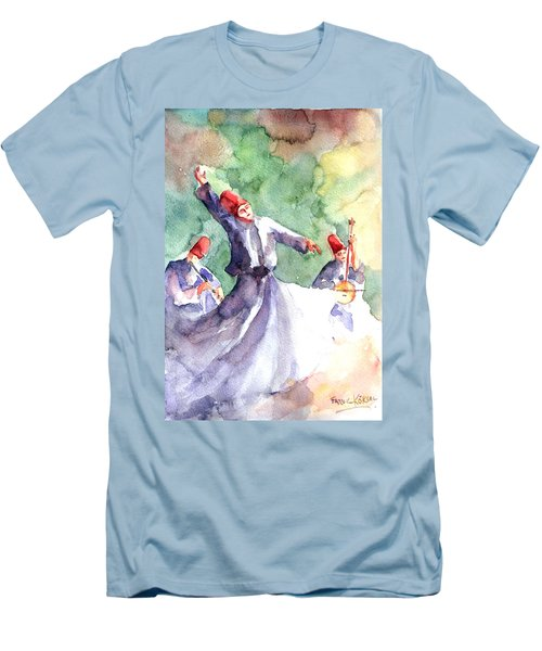 Whirling Dervishes Men's T-Shirt (Athletic Fit)