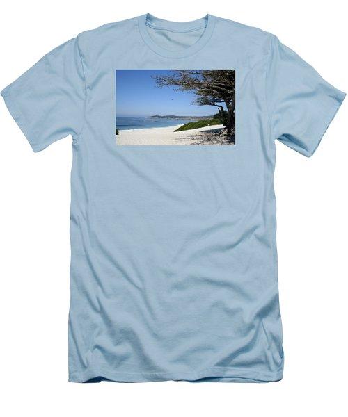 White Beach At Carmel Men's T-Shirt (Athletic Fit)