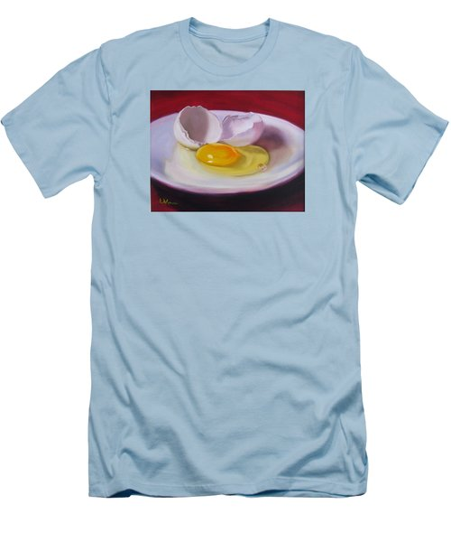 White Egg Study Men's T-Shirt (Slim Fit) by LaVonne Hand