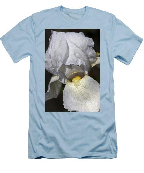 Men's T-Shirt (Slim Fit) featuring the photograph White Iris by Joy Watson