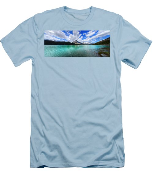 Men's T-Shirt (Slim Fit) featuring the photograph White Pyramid by David Andersen