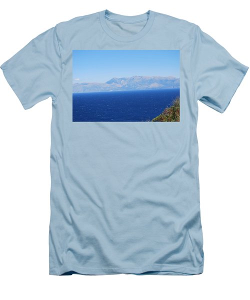 Men's T-Shirt (Slim Fit) featuring the photograph White Trail by George Katechis